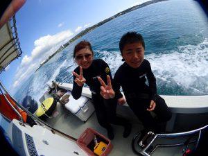 沖縄真栄田岬オープンウォーターライセンス取得