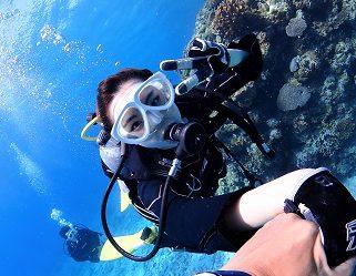 沖縄水納島体験ダイビング